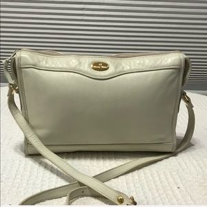 Etienne Aigner White Shoulder bag 8 x11 inches